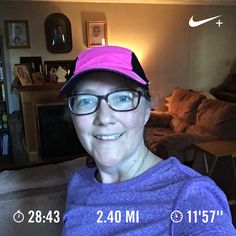 Quick evening run. Didn't feel that great – had a headache all day and barely felt better when we left. Upset tummy during the run.