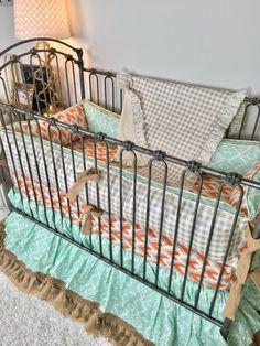 Tan Plaid Crib Bedding for Boy Orange & Grey Arrowheads Crib Nursery Bedding Sets Girl, Crib Bedding Boy, Best Bedding Sets, Queen Bedding Sets, Luxury Bedding Sets, Dorm Bedding, Comforter, Bed Sheets Online, Cheap Bed Sheets
