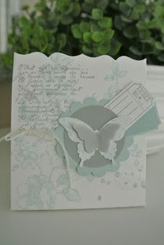 Smokey Slate, Soft Sky, Fancy Favor box. By Cards and Scrapping