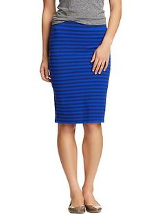 Women's Striped Jersey Pencil Skirts | Old Navy