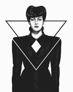 Rachel - Blade Runner 1982 - Ilustration by Joaquin Rodríguez