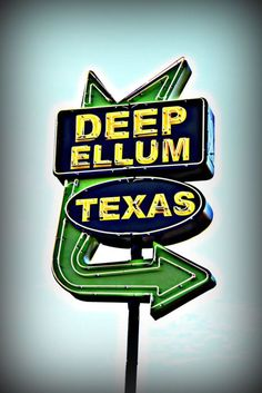 Good ol' Deep Ellum...spent many evenings here in my 20s dancing with my friends!  Now it's mostly biker bars and tattoo parlors...but Serious Pizza and Trees still are a draw for me.  :)