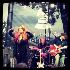"""The night is just getting started as five-time GRAMMY winner @WynonnaMusic takes the stage! #GRAMMYBlockParty"""