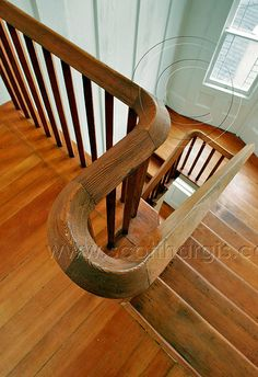 Old fir floors, classic oak handrails, well worn stairs - what's not to love