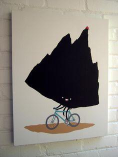 a mountain, biking Mountain Biking, Circles, Turning, Rooster, Bike, Animals, Bicycle, Animales, Animaux