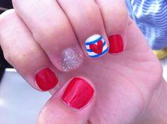 Mis uñas, copiadas de unas de pinterest