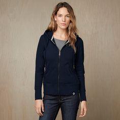 Womens Heavyweight Full Zip Hooded Sweatshirt. Touted as the World's Best Sweatshirt  - American Giant NYC