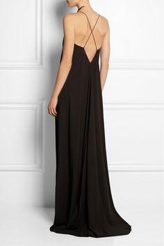 Calvin Klein Collection Robe longue du soir en crêpe Alessia NET-A-PORTER.COM