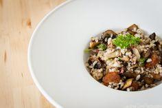 Salteado de setas, morcilla y arroz - Receta paso a paso
