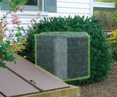 Conceal that big and ugly air conditioner unit with this faux shrub that will cleverly hide your outdoor A/C unit. Not only will the shrub air conditioner concealer improve the look of your backyard, but it will also provide unrestricted airflow so your A/C unit will work perfectly.