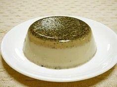 レンジでなめらか黒胡麻きな粉豆乳ぷりん。