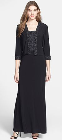 993b29fe6b Patra - Metallic Lace Jersey Gown & Jacket Metallic Lace, Coco Chanel, Nice  Things