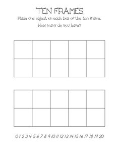 Math FREEBIE: Print this double 10-Frame template to help your ...
