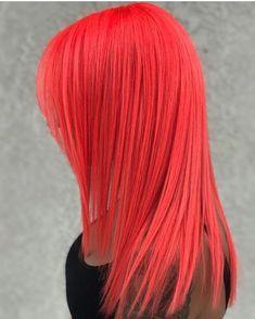 Pulp Riot is the paint. Coral Hair, Peach Hair, Neon Hair, Turquoise Hair, Violet Hair, Pretty Hair Color, Hair Color Blue, Hair Dye Colors, Hair Colorful