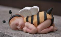 Babyshower caketopper; Bee