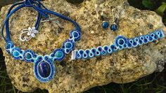 Conjunto con ágatas azules y tupid