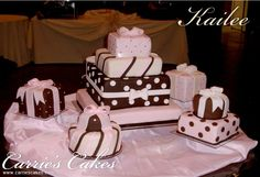 Kailee - Carrie's Cakes--Gorgeous! But is it poor taste to have your wedding cake looking like gifts!?