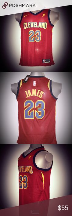 Lebron James Cleveland Cavaliers red jersey 2018 Lebron James Cleveland Cavaliers red jersey Nike Shirts Tank Tops
