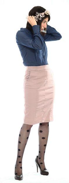 Super sexy Pencil skirt by TAMAR LANDAU  #modest chic