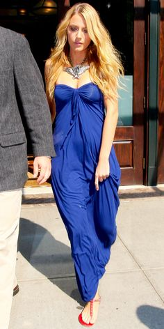 Blake Lively in a Lanvin dress