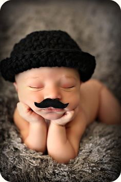 Newborn Baby Boy Photo Prop Bowler Hat by MitziKnitz on Etsy, $27.00