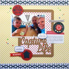 capturelife scrapbook layout | Cari Locken for Silhouette