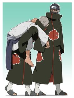 Hidan & Kakuzu | Kakuzu's face shows everything lol