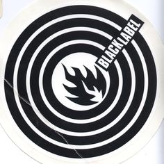 Black Label Skateboards Circle Logo Sticker.  Click on picture to purchase.