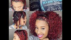 Braid-Out on Natural Fine Hair/Braid Headband Tutorial - https://blackhairinformation.com/video-gallery/braid-natural-fine-hairbraid-headband-tutorial/