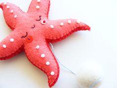 PDF pattern Starfish mobile Felt ornaments easy от iManuFatti