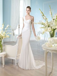 ROBE MOUSSELINE HABIDD Créateurs Vente robes et accessoires de mariée Marseille - Sonia. B