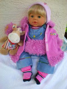 Babypuppen & Zubehör Max Zapf Puppe Little Chou Chou Oder Baby Born Mit Bekleidung Puppen