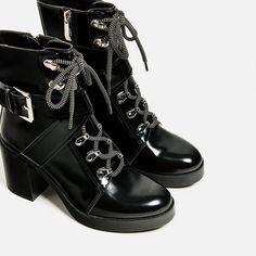 Image 1 of HIGH HEEL MOUNTAIN ANKLE BOOTS from Zara