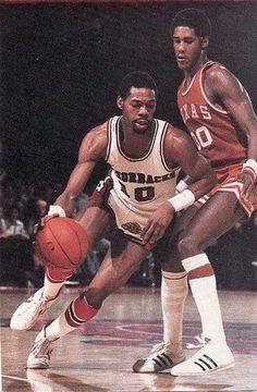arkansas basketball ron brewer   Ron Brewer vs. Johnnie Moore... Arkansas vs. Texas.., SWC