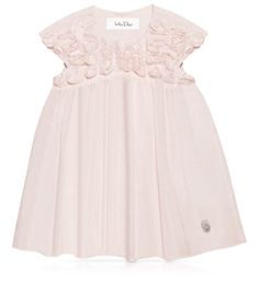 Baby Dior Newborn Powder pink shaped cotton voile dress
