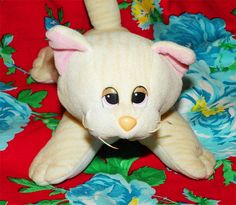 Pound Purries Kitten Beige with Stripes Vintage 80s toy by VintageRainbowShop, $6.75