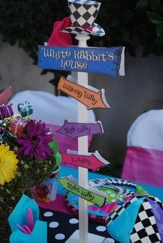 Alice in Wonderland Party.  See more party ideas at CatchMyParty.com. #aliceinwonderlandpartyideas