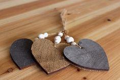 Καρδιές Ξύλινες WI9193  Ξύλινες διακοσμητικές καρδιές με λινάτσα και κορδόνι. Διαστάσεις: 8cm Η συσκευασία περιέχει 3 τεμάχια. Drop Earrings, Jewelry, Fashion, Jewellery Making, Moda, Jewels, Fashion Styles, Jewlery, Jewerly
