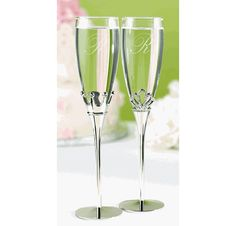King and Queen Champagne Flutes