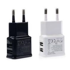 Universal Dual USB Charger EU Plug 5V 2A Wall Travel Power Charger