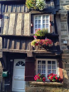 A very narrow house along the Dinan running route in France's Brittany.