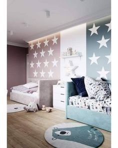 New baby room furniture ideas Teal Girls Rooms, Modern Girls Rooms, Diy Room Decor For Girls, Girls Room Paint, Little Girl Rooms, Room Design Bedroom, Girls Room Design, Small Room Bedroom, Girls Bedroom