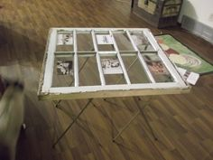 TV tray legs hold a window with old western pictures Tv Trays, Repurposed Items, Farmer, Tables, Windows, Legs, Pictures, Furniture, Home Decor