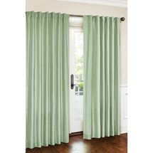 Faux silk curtains in chocolate or ivory