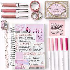 Pink planner weekly spread