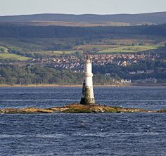 GANTOCKS Light. Rocky outcrop just off Dunoon , Argyll & Bute , in the Firth of Clyde. Scotland