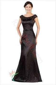 Detayları Göster Kayık Yaka Saten Abiye Elbise M-0216