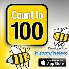 Count To 100! app for the iPad http://fuzzybees.com