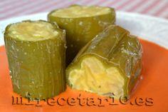 Pimientos rellenos de tortilla en salsa de piquillos {BBSS} - mirecetario.es