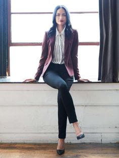 When you mean business, nothing in your closet gets the job done like a tailored blazer. (We think it's got something to do with the shoulders.) Get it boxy, boyfriend-long or taken in at the waist for a feminine touch. When the weather gets too warm for wool, look for a cotton or linen alternative.